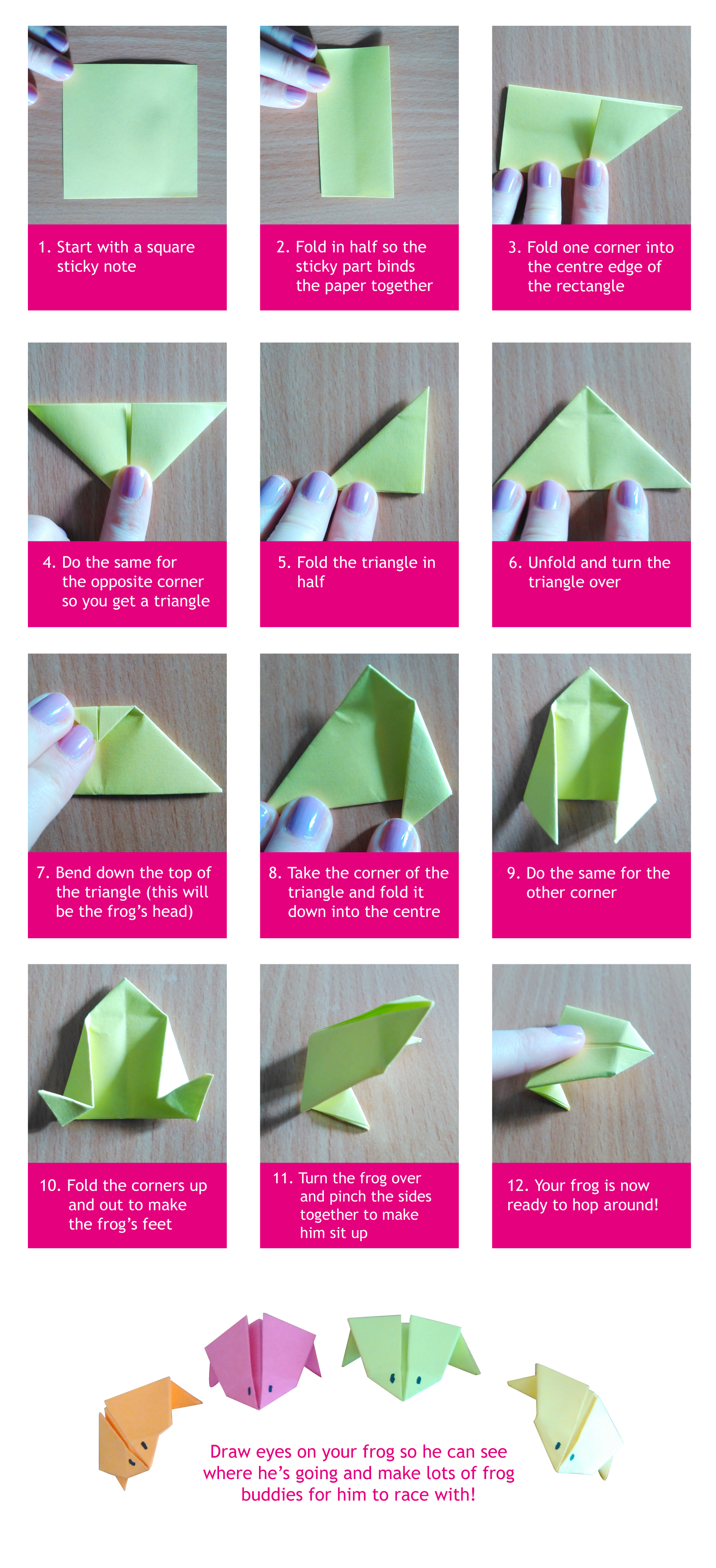 Paper Frog Instructions cs5