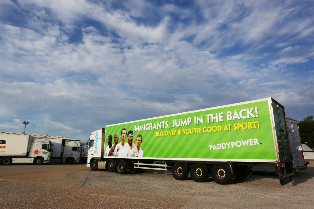 Paddy Power's immigration-linked advertising