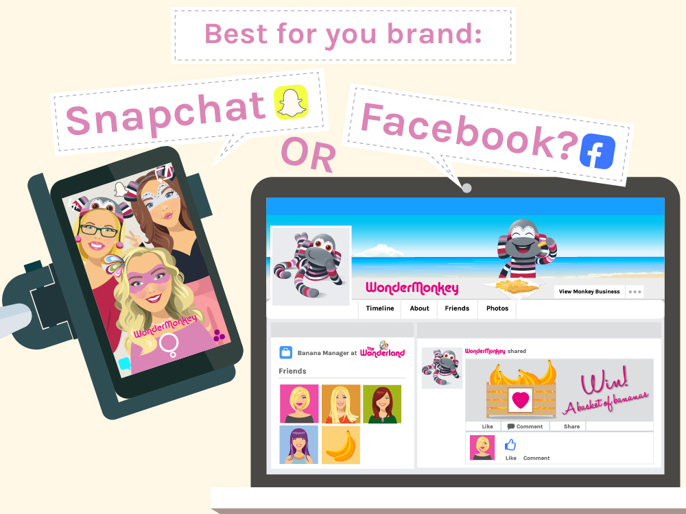 Best for your brand: Snapchat or Facebook?