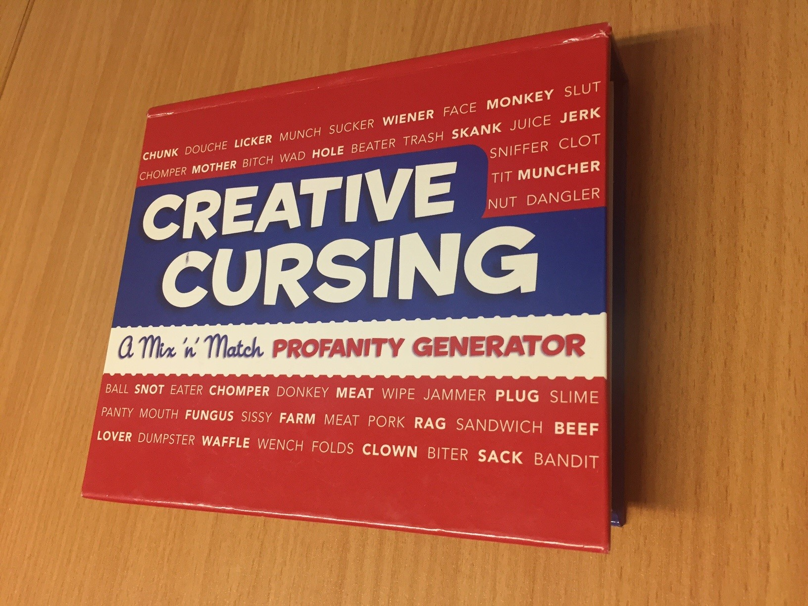 Even our office air can be as colourful as our creative output, we have  props! A creative cursing book to help us when 'f*ck it!