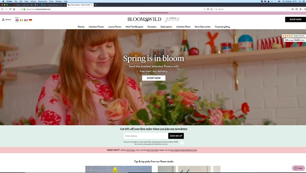 Bloomswild website