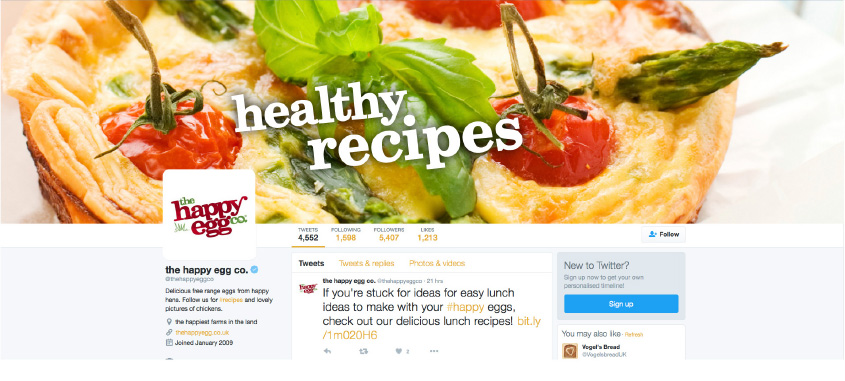 Social media campaigns for The Happy Egg Co.